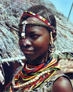 Picture of a native African girl
