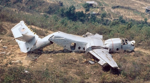 Image of a wrecked aircraft